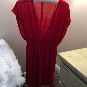 Red Swim Coverup Medium